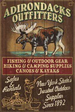The Adirondacks - Long Lake, New York State - Moose Outfitters by Lantern Press