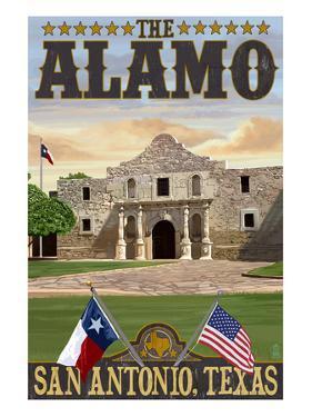 The Alamo Morning Scene - San Antonio, Texas by Lantern Press
