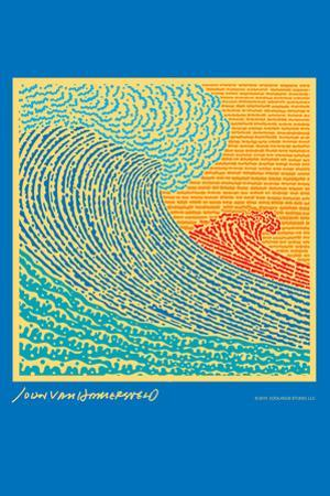 The Big Wave - John Van Hamersveld Poster Artwork by Lantern Press