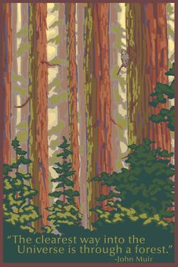 The Clearest Way - National Park WPA Sentiment by Lantern Press