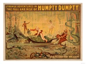 The fall and rise of Humpty Dumpty Theatre Poster by Lantern Press