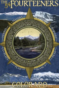 The Fourteeners - Rocky Mountain National Park by Lantern Press