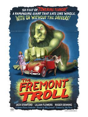 The Fremont Troll Movie Poster by Lantern Press