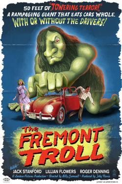 The Fremont Troll Movie Poster by Lantern Press