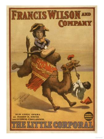 """The Little Corporal"" Camel Egyptian Baby Theatre Poster"