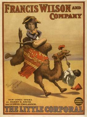 """""""The Little Corporal"""" Camel Egyptian Baby Theatre Poster by Lantern Press"""