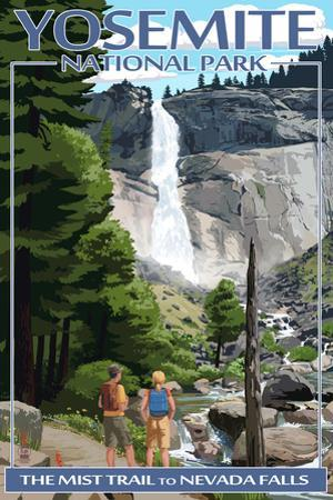 The Mist Trail - Yosemite National Park, California by Lantern Press