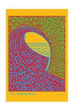 The Next Wave - Green and Blue - John Van Hamersveld Poster Artwork by Lantern Press