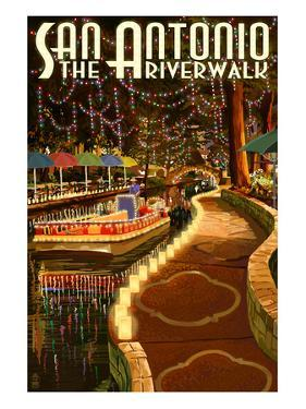 The Riverwalk - San Antonio, Texas by Lantern Press