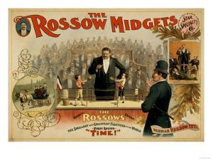 The Rossow Midgets Boxing Match Theatre Poster by Lantern Press
