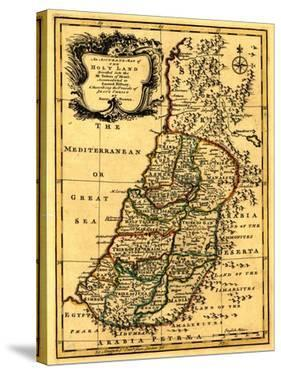 The Tribes of Israel in Palestine - Panoramic Map by Lantern Press