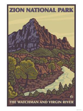 The Watchman, Zion National Park, Utah by Lantern Press
