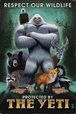 The Yeti and Wildlife by Lantern Press
