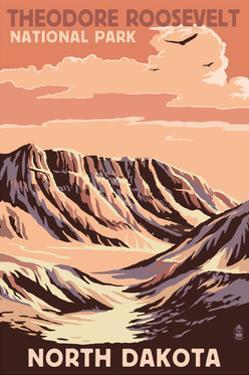 Theodore Roosevelt National Park - North Dakota - Buttes by Lantern Press