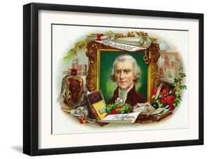 Thomas Jefferson Brand Cigar Inner Box Label by Lantern Press