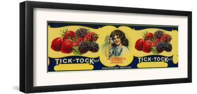 Tick Tock Berry Label - San Francisco, CA by Lantern Press