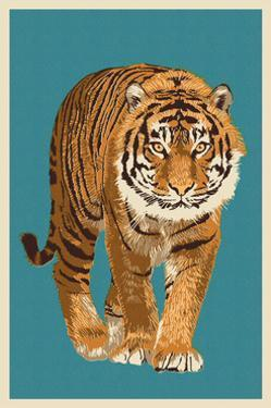 Tiger - Letterpress by Lantern Press