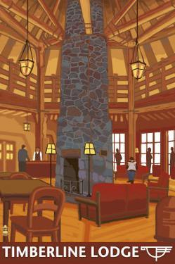 Timberline Lodge Lobby - Mt. Hood, Oregon, c.2009 by Lantern Press
