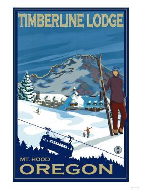Timberline Lodge, Mt. Hood, Oregon by Lantern Press