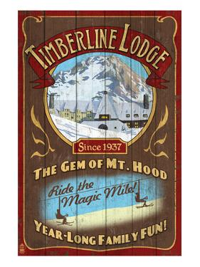 Timberline Lodge - Mt. Hood, Oregon by Lantern Press