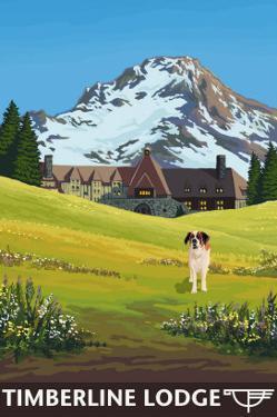 Timberline Lodge - Spring - Mt. Hood, Oregon, c.2009 by Lantern Press