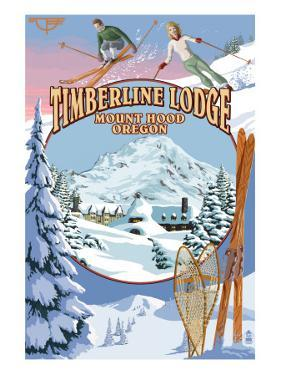 Timberline Lodge - Winter Views - Mt. Hood, Oregon by Lantern Press