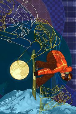 Timelapse Snowboarder by Lantern Press