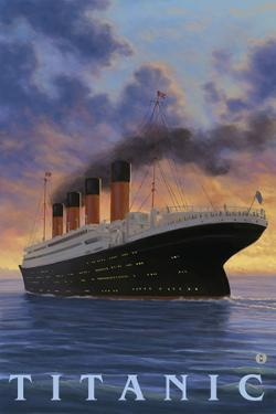 Titanic Scene - White Star Line by Lantern Press
