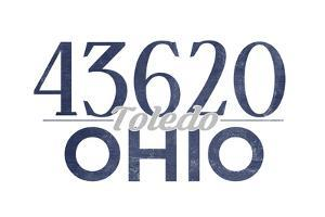Toledo, Ohio - 43620 Zip Code (Blue) by Lantern Press