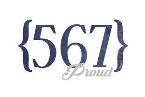 Toledo, Ohio - 567 Area Code (Blue) by Lantern Press