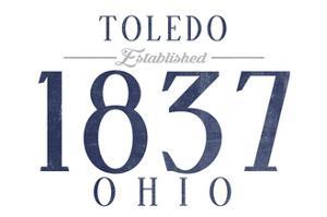 Toledo, Ohio - Established Date (Blue) by Lantern Press