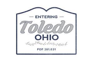 Toledo, Ohio - Now Entering (Blue) by Lantern Press