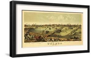 Toledo, Ohio - Panoramic Map by Lantern Press