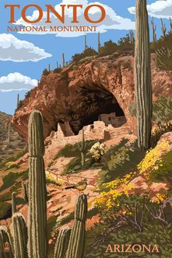 Tonto National Monument, Arizona by Lantern Press