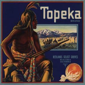 Topeka Brand - Redlands, California - Citrus Crate Label by Lantern Press