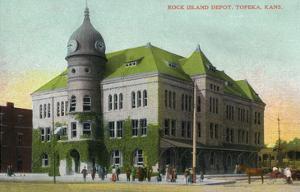 Topeka, Kansas - Rock Island Depot Exterior View by Lantern Press