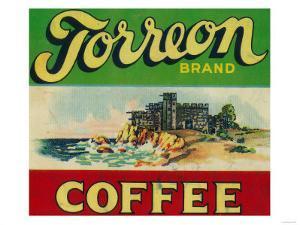 Torreon Coffee Label by Lantern Press