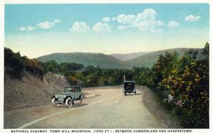 Town Hill Mountain, Maryland - National Road Between Cumberland and Hagerstown by Lantern Press