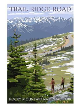 Trail Ridge Road - Rocky Mountain National Park by Lantern Press