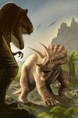 Triceratops Dinosaur by Lantern Press