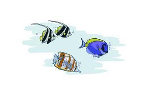 Tropical Fish - Icon by Lantern Press
