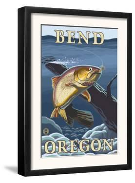 Trout Fishing Cross-Section, Bend, Oregon by Lantern Press
