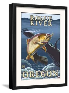 Trout Fishing Cross-Section, Rogue River, Oregon by Lantern Press