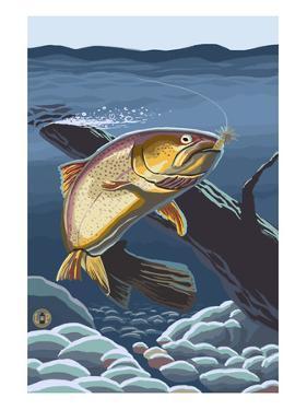 Trout Underwater by Lantern Press