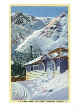 Tuckerman Ravine, NH - View of a US Forest Service Ski Shelter by Lantern Press