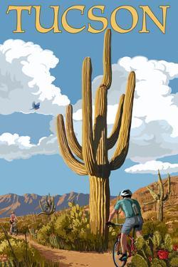 Tucson, Arizona - Bicycling Scene by Lantern Press