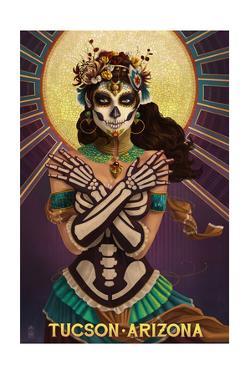 Tucson, Arizona - Day of the Dead Crossbones by Lantern Press