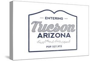 Tucson, Arizona - Now Entering (Blue) by Lantern Press