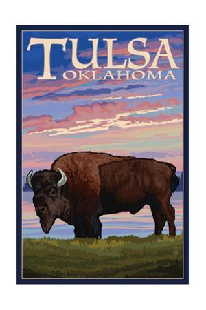 Tulsa, Oklahoma - Buffalo and Sunset
