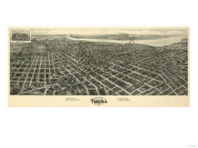 Tulsa, Oklahoma - Panoramic Map